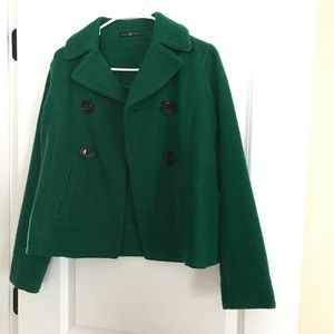**GAP FELT GREEN COAT